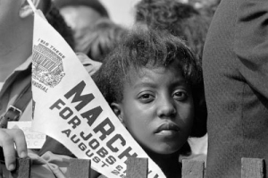 One of the hopeful faces from the March on Washington 50 years ago today